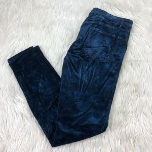 J Brand Velvet Mid Rise Super Skinny Pants Jeans